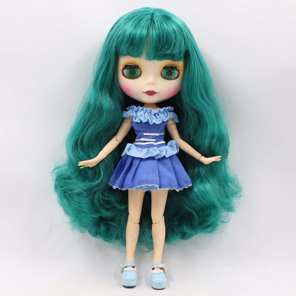 Neo Blythe Doll with Turquoise Hair, White Skin, Matte Face & Jointed Body 1