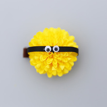 1 PCS New Little Yellow People Flowers Baby Hairpins Princess Barrette Kids Hair Clips Children Headwear Girls Hair Accessories(China)