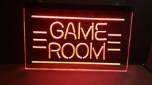 game room logo 3 size Home Decoration Wall Decor Beer NR Bar Pub Club LED Neon Light Sign