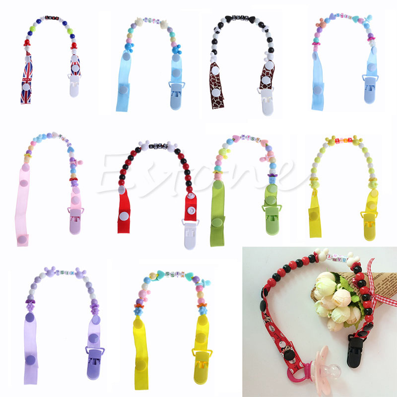 Toddler Baby Infant Hand Made Dummy Pacifier Clip Chain Holder Soother Nipple Strap New