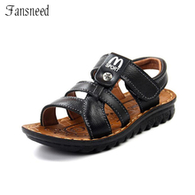 children sandals boys beach shoes summer fashion outstanding sandals kids quality leather sandals(China)