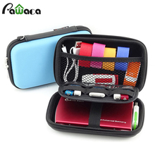 "Waterproof Hard Drive Earphone USB Flash Case Digital Cable Storage organizer box Bag Case for 2.5"" HDD Hard Disk(China)"