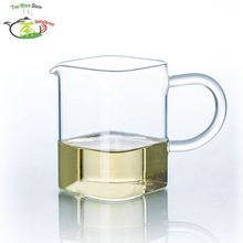 1x 6.76fl.oz/200ml Square Heat-Resisting Clear Glass Tea Pitcher Cha hai Gongdao Tea Cups Fair Mug(China)