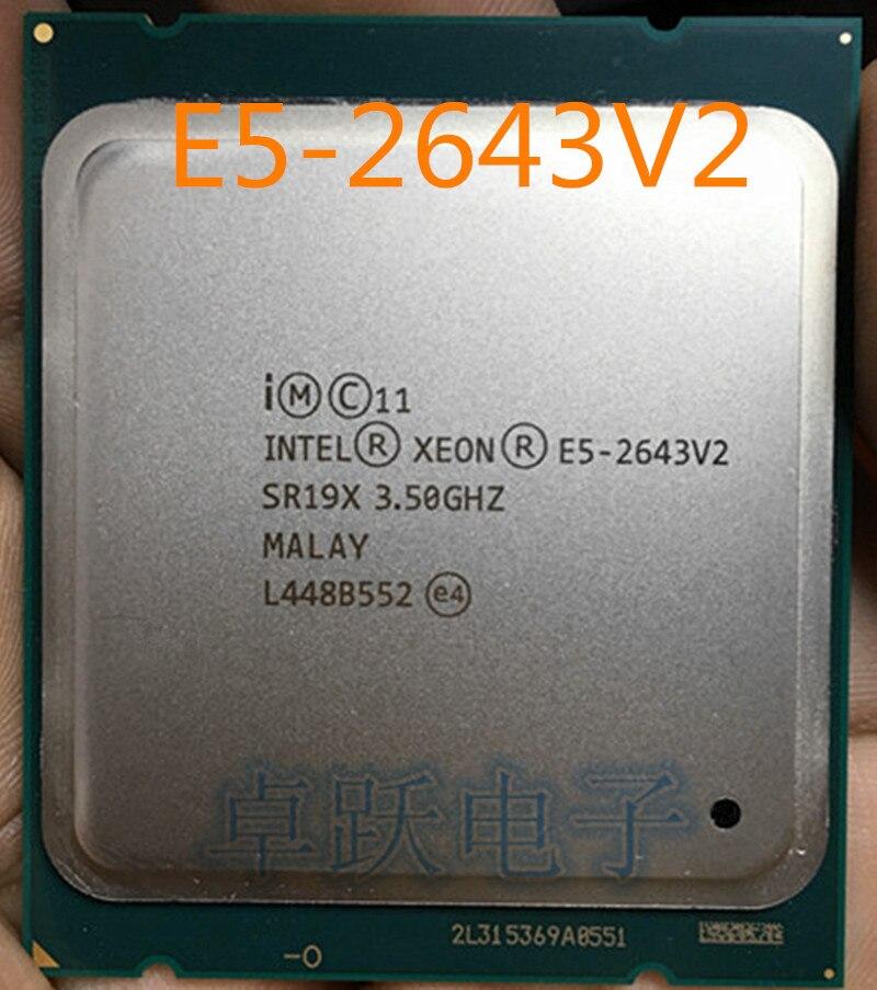 Intel Xeon E5-2643 v2 3.5GHz 25MB 6-Core 130W LGA2011 SR19X