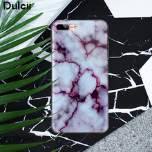 Dulcii For iPhone 7 Plus 5.5 inch TPU Cases Marble Pattern IMD TPU Mobile Casing Case for iPhone 7 Plus 5.5 - Purple