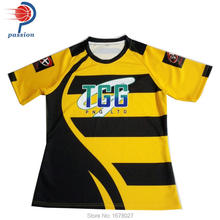 OEM sublimation colorful custom cheap rugby jersey uniform(China)