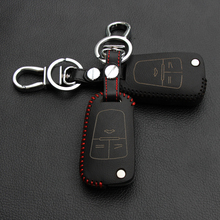 Leather fold Key Case Cover Holder For Opel Astra Corsa Antara Meriva Zafira ASTRA J Mokka Insignia/Chevrolet Cruze Aveo TRAX