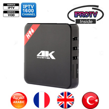 Hotsell H96 Quad Core Android TV Box with 1 Year 1600+ Arabic French Belgium IPTV code Live TV and VOD Sports Kinds Movies News(China)