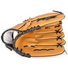 "2017 New PVC leather Brown Baseball Glove 10.5""/11.5""/12.5"" Softball Outdoor Team Sports Left Hand Baseball Practice Equipment"