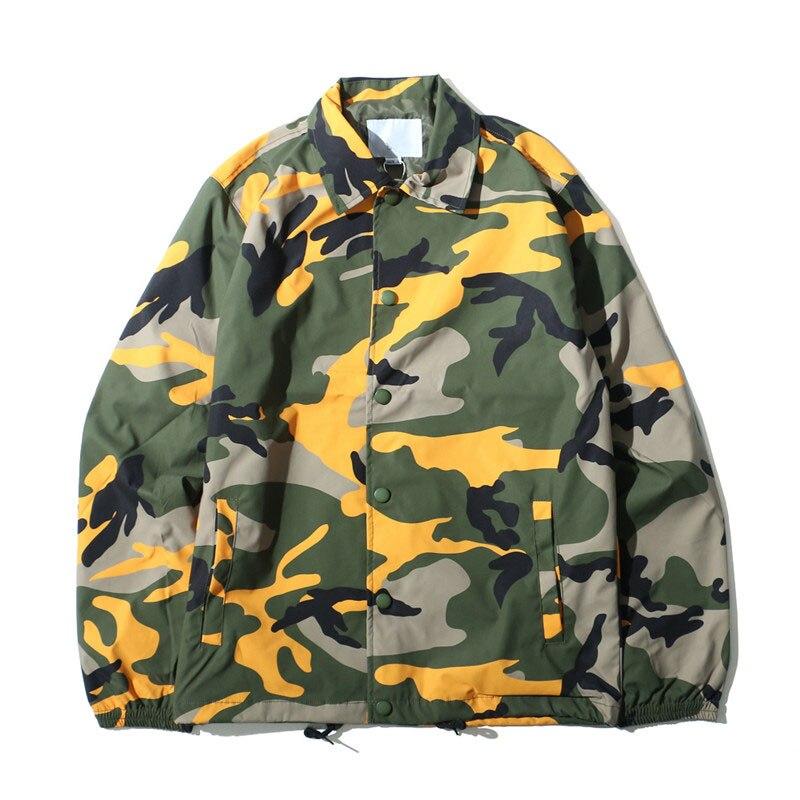 HZIJUE Camouflage Turn-down Collar Men's Jacket 2017 Autumn Thin Style Multy Camo Jackets Men 8 Colors