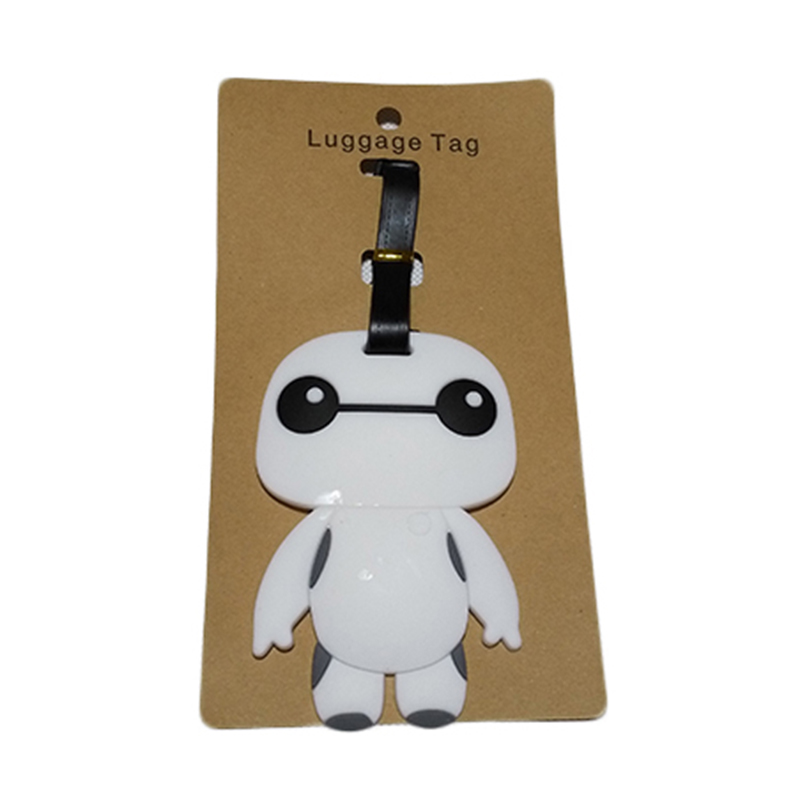 Travel Accessories Luggage Tag Suitcase Cartoon Style Cute Minions Silicone Tags Portable Travel Label Bag Tag Obag Accessories (9)