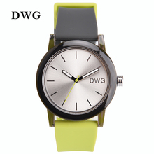 DWG Brand Quartz-watch Women 3Bar Silicone Band Mens Watches Ladies Gift Watch Analog Sports Wristwatch for Women Bracelet Clasp
