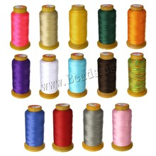 0.2-0.3mm Sewing Thread Cord Waxed Nylon Cord String 750m/Spool Strap For DIY Rope Bead Necklace Bracelet Making Beading Thread(China)
