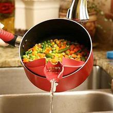 New Arrival Kitchen Gadget Silicone Soup Funnel Water Deflector Cooking Tool Wash rice Pour Tool
