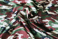 Meisai decorate material spandex charmeuse cloth camouflage pattern spandex satin fabric