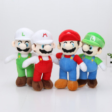 "Stand Mario Stand Luigi 2pcs 10"" 25cm High Quality Super Mario Bros Brothers Soft Plush Doll(China)"