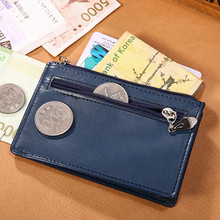 Slim Mini Wallet purses Men Cow Leather Credit Card Case Men ID Holder Car Wallets & Holders dollar price carteira masculina2017