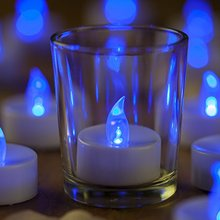 20Pcs Battery Operated LED Candles Tealights for Windows Candle Holders Luminaries Birthday Candle Wedding Valentines