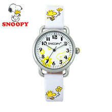 2017 Snoopy Kids Watch Children Watch Casual Fashion Cute Cool Quartz Wristwatches Boys Water Resistant Leather clock