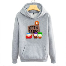 South Park four main protagonists Cartman Kenn Stan Kyle couple clothes woman cotton casual hoodie(China)