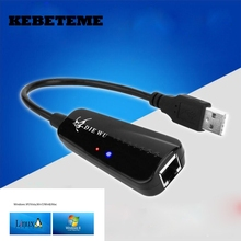 KEBETEME Mini 10/100 Mbps USB 2.0 Ethernet USB To RJ45 Wired Network Card Lan Adapter Hub for Windows 7/8/10/Vista/XP Linux PC(China)