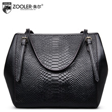 ZOOLER Women Genuine Leather Bags All Match European and American Top Handle Tote Bags Female Cowhide Crocodile Pattern Bag 2017(China)