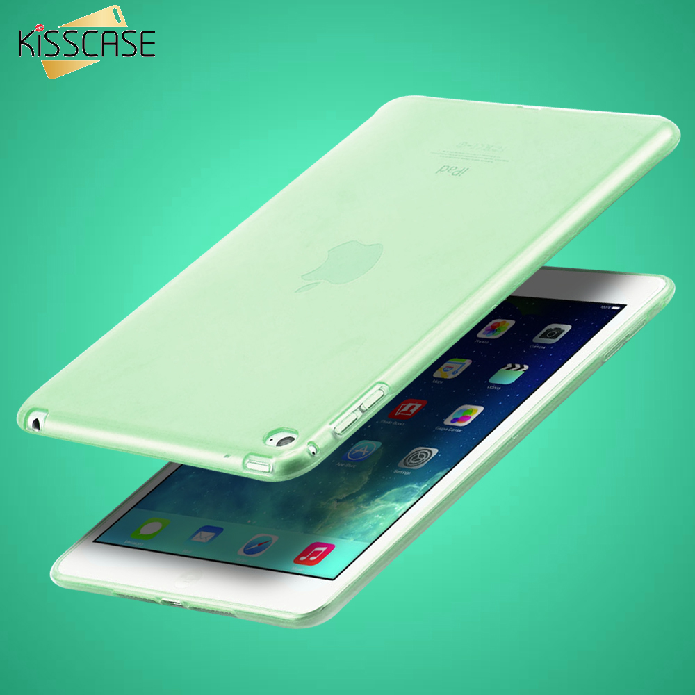 "KISSCASE 7.9"" Clear Transparent Case for iPad mini 4 Soft TPU Silicone Cover for apple ipad mini4 Slim Tablets PC Accessories(China (Mainland))"