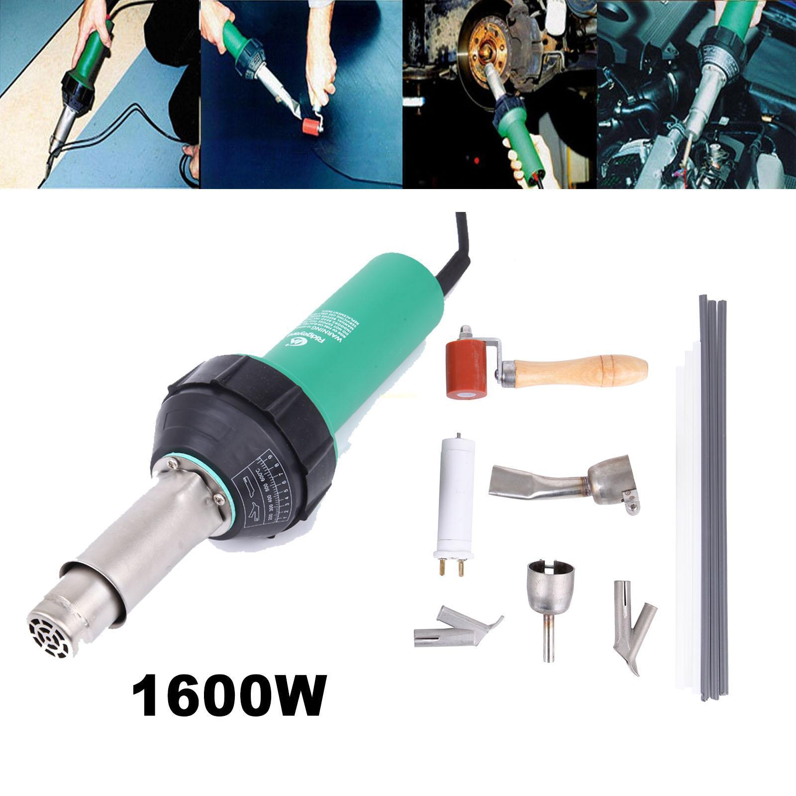 1080W Plastic Welding Hot Air Torch Welder Gun Pistol Tool w// Nozzle /& Roller