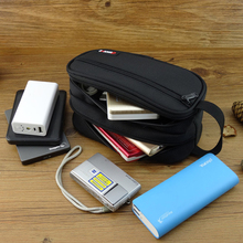 Big Size Organizer Bag for Hard Drive USB flash disk pen Drive Cable power bank case travel case organza bag hard disk GH1602(China)