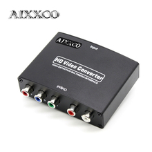 AIXXCO 1080P HD HDMI To RGB Component YPbPr video and R/L audio Adapter Converter Eletronic(China)