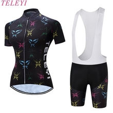 Buy 2017 NEW Women Bicycle Clothing Sets Print Cycling Shorts Female Short Sleeve Breathable Quick Dry Outdoor Sportswear for $27.50 in AliExpress store