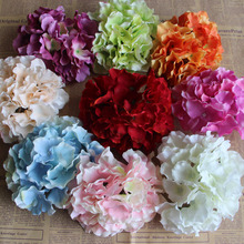 16 cm Artificial Hydrangea Flower Head Big Silk Flower Craft Wedding Home Christmas Decoration Needle Art Decors DIY accessories
