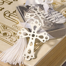 Cute Cross Love Silver Metal Bookmarks Creative Gift for Wedding High quality Gift Pakage Wholesale 01408