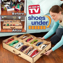 12 Grid Transparent Dustproof Shoe Organizer PVC Shoe Storage Box Space Saving Home Accessories