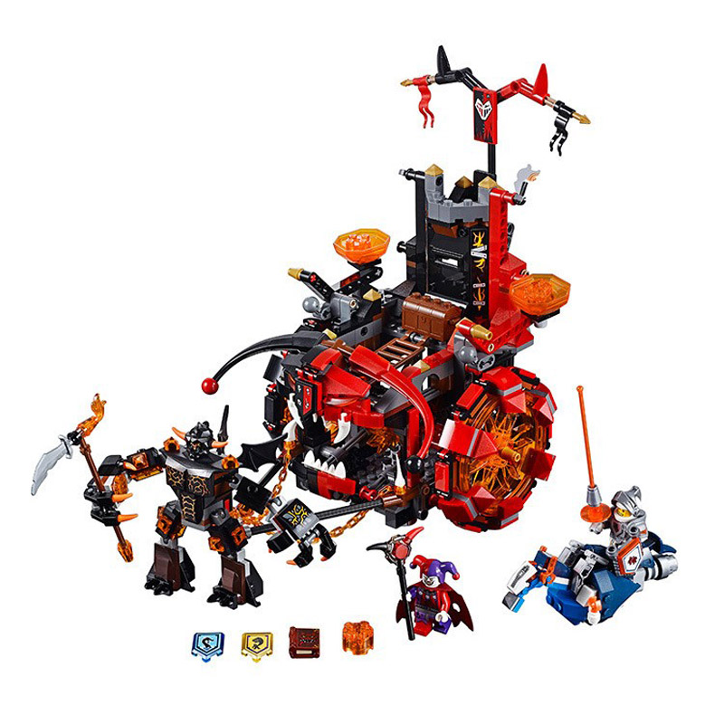 Lepin Pogo Bela 10489 670PCS+Nexus Nexo Knights Jestro Evil Mobile Combination Building Blocks Bricks Compatible with Legoe Toys<br>