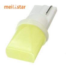1pcs Car led 12V T10 cob 194 168 W5W 1.5W Ceramic Shell Super Bright White Car Auto Wedge Side License Plate Lights Lamp Bulb