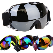 Professional Ski goggles double layers UV400 anti-fog big ski mask glasses skiing men women Winter snow snowboard goggles(China)