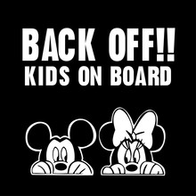 Mickey Minnie Mouse MURAL,kids on board car sticker,free ship