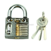 Nice 1 set Cutaway Inside View Practice Learning Padlock Lock Training Skill Pick Locksmith #U225#