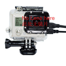 For GoPro Hero 3 Accessories Skeleton Protective Housing case Box without lens Side open for AV,USB,HDMI Cable For Hero 3(China)