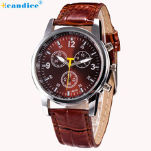 Luxury Fashion Crocodile Faux Leather Mens Watches Analog Quartz Wrist Watch Relogio Masculino Creative Apr06