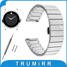 16mm 18mm 20mm Stainless Steel Watch Band for Movado Quick Release Strap Butterfly Buckle Belt Bracelet Black Rose Gold Silver(China)