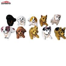 Cute Dog Car Ornament Shaking Head Doll Car Interior Decorations With Antislip Pad Auto Dashboard Ornaments Accessories(China)