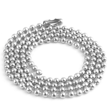 Free Shipping 2.4mm Stainless Steel Ball Beads Necklace Chain Stainless Steel Ball Chain KEYCHAIN ball chain