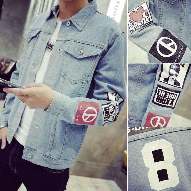 New Fashion Men's Denim Jacket M-5XL Men Windbreaker Blue Hip Hop Casual Jeans Outfit Korean Slim Fit Mens Jackets and Coats