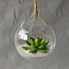 Hanging Glass Vase Hanging Terrarium Glass Vase Hydroponic Flower Planter Office Home Decor Ornament
