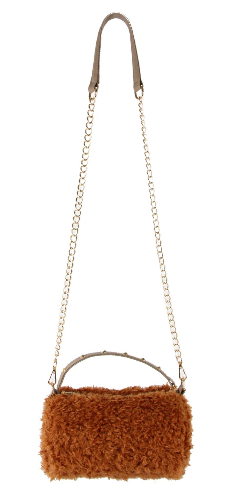 MiCOM Fashion Crossbody Bags for Women Faux Fur Handbag Shoulder Bag Small Plush Ladies Hand Bags Female Purse Messenger Bag