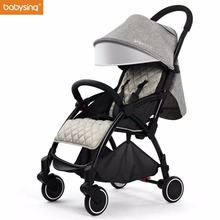 Babysing Lightweight Baby Stroller Suitable for Spring Summer Foldable Travel Umbrella Pram Easy to Put Into Airplane and Train(China)