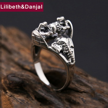 2017 Thailand Buddha Ring 100% Real 925 sterling Thai silver Men Women Elephant gods Instruments Ring Gift Fashion jewelry FR17(China)