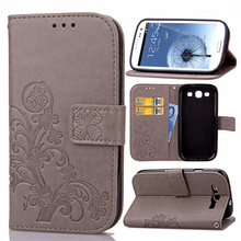 For Samsung Galaxy S3 SIII Cover Luxury PU Leather Flip Wallet Case For Samsung Galaxy S3 Neo i9300 9300 Phone Bags Card Holder